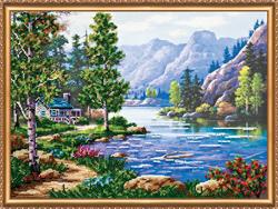 Kralen borduurpakket Mountain Morning - Abris Art