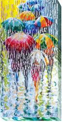 Kralen borduurpakket Cheerful Umbrellas - Abris Art