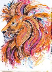 Kralen borduurpakket Fire-Maned Lion - Abris Art