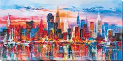 Kralen borduurpakket Evening City - Abris Art