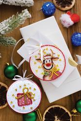 Kralen borduurpakket Christmas Guest - Abris Art