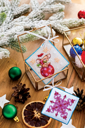 Kralen borduurpakket Little Naughty Mouse - Abris Art