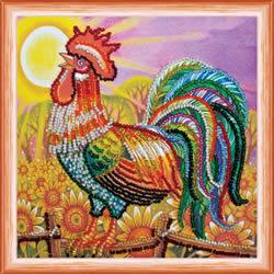 Kralen borduurpakket Cockerel - Abris Art