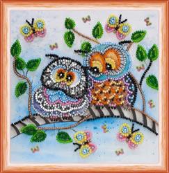 Kralen borduurpakket Owl Duet - Abris Art