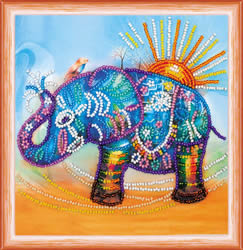 Kralen borduurpakket Neon Elephant - Abris Art