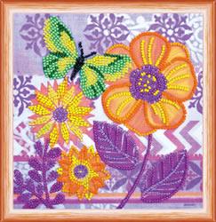 Kralen borduurpakket Amazing Flowers - Abris Art