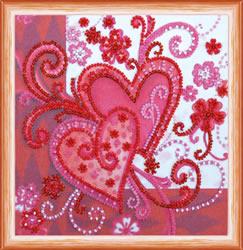 Kralen borduurpakket Loving Hearts - Abris Art