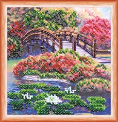 Kralen borduurpakket Flowers in the Pond - Abris Art