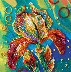 Kralen borduurpakket Multicolored Iris - Abris Art