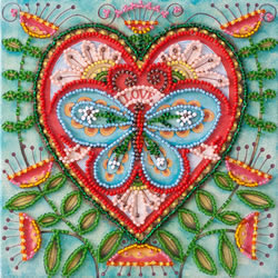 Kralen borduurpakket Summer Heart - Abris Art