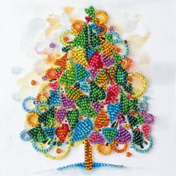 Kralen borduurpakket The Heart of the Holiday - Abris Art