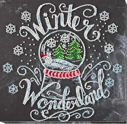 Bead Embroidery kit Winter Wonderland - Abris Art