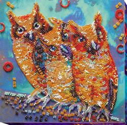 Kralen borduurpakket Funny Trio - Abris Art
