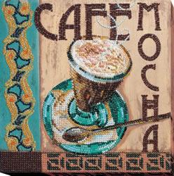 Kralen borduurpakket Mocha - Abris Art