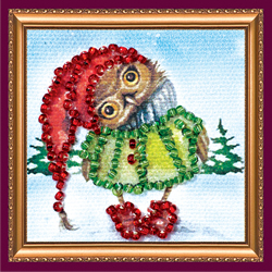 Kralen borduurpakket Owl - 2 - Abris Art