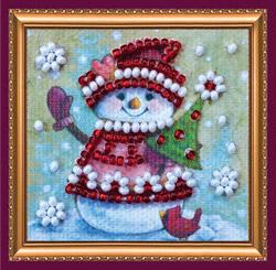 Kralen borduurpakket Winter Guest - Abris Art