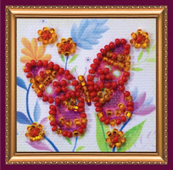 Kralen borduurpakket Flying Flower - Abris Art