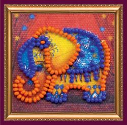 Kralen borduurpakket Orange Elephant - Abris Art