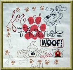 Borduurpatroon My Dog Sampler - Alessandra Adelaide