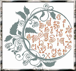 Borduurpatroon Summer Alphabet - Alessandra Adelaide