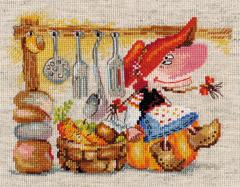 Borduurpakket The Keeper of Vegetable Pantry - Alisa