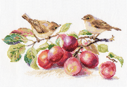 Borduurpakket Warblers and Plums - Alisa