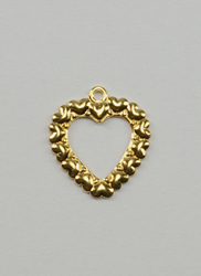 Charms Gold Open Heart - Birdhouse Enterprise