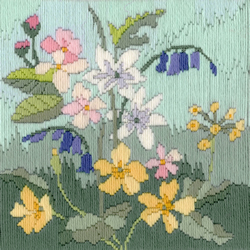 Borduurpakket Rose Swalwell - Long Stitch Seasons - Spring - Bothy Threads
