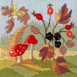 Borduurpakket Rose Swalwell - Long Stitch Seasons - Autumn - Bothy Threads