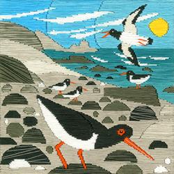 Borduurpakket Matt Johnson - Oyster Catchers - Bothy Threads