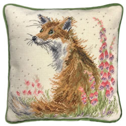Kussenborduurpakket Hannah Dale Tapestries - Amongst The Foxgloves - Bothy Threads