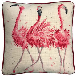Kussenborduurpakket Hannah Dale Tapestries - Pink Ladies - Bothy Threads