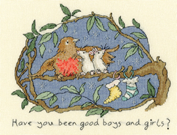 Borduurpakket Anita Jeram - Have you been good? - Bothy Threads