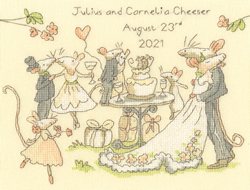 Borduurpakket Anita Jeram - Mice day for a white wedding - Bothy Threads