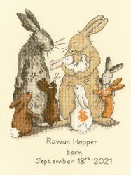 Borduurpakket Anita Jeram - Welcome to the warren - Bothy Threads