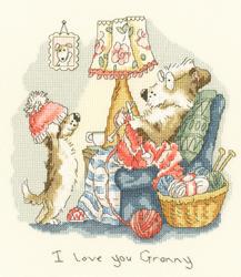Borduurpakket Anita Jeram - I love you Granny - Bothy Threads
