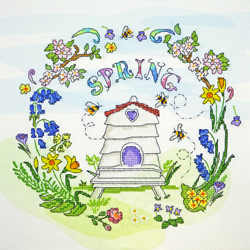 Borduurpakket Amanda Loverseed - Spring Time - Bothy Threads