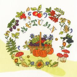 Borduurpakket Amanda Loverseed - Autumn Time - Bothy Threads