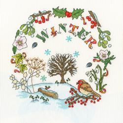 Borduurpakket Amanda Loverseed - Winter Time - Bothy Threads