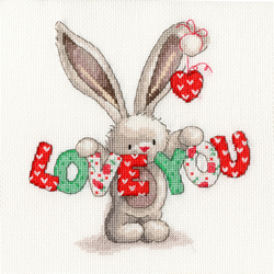 Borduurpakket Bebunni - Love You - Bothy Threads