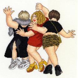Borduurpakket Beryl Cook - Girls' Night Out - Bothy Threads