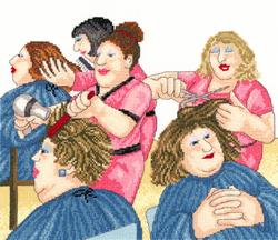 Borduurpakket Beryl Cook - Hair With Flair - Bothy Threads