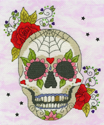 Borduurpakket Halloween - Sugar Skull - Bothy Threads