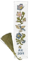 Borduurpakket Rose And Cornflower Bookmark - Bothy Threads