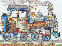 Borduurpakket Cut Thru' - Steam Train - Bothy Threads