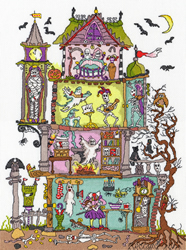 Borduurpakket Cut Thru' - Haunted House - Bothy Threads