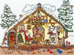 Borduurpakket Cut Thru' - Christmas Bothy - Bothy Threads