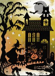 Borduurpakket Enchanted - Pumpkin House - Bothy Threads