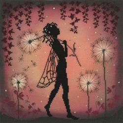 Borduurpakket Lavina Stamps' Fairies - Dandelion Fairy - Bothy Threads
