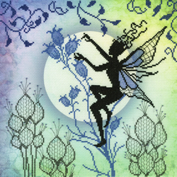 Borduurpakket Lavina Stamps' Fairies - Harebell - Bothy Threads